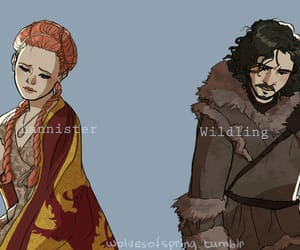 game of thrones, love, and jon snow image