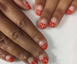 nails, fashion, and heart image