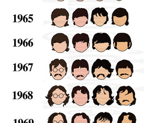 the beatles, beatles, and hair image