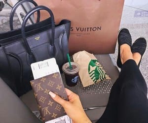 starbucks, Louis Vuitton, and celine image