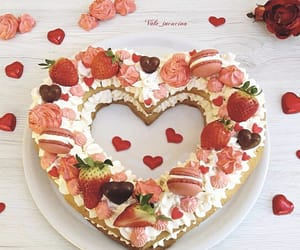 cake, day, and hearts image