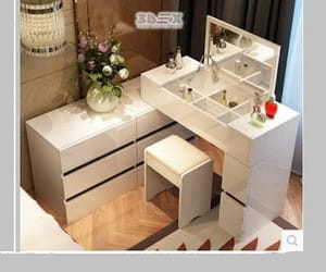 bedroom interior, dressing table, and Tables image