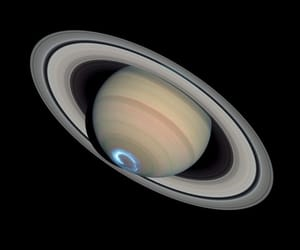 saturn, planet, and space image