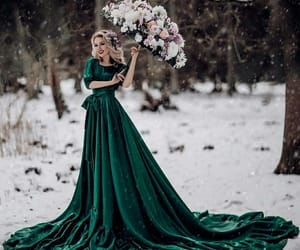 blonde, dress, and cold image