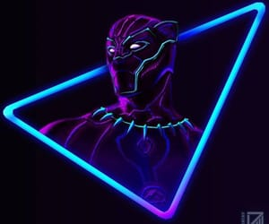 black panther, Avengers, and Marvel image