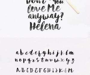 hand, lettering, and typography image
