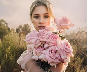 lili reinhart, girl, and flowers image