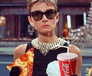 pizza, audrey hepburn, and Breakfast at Tiffany's image