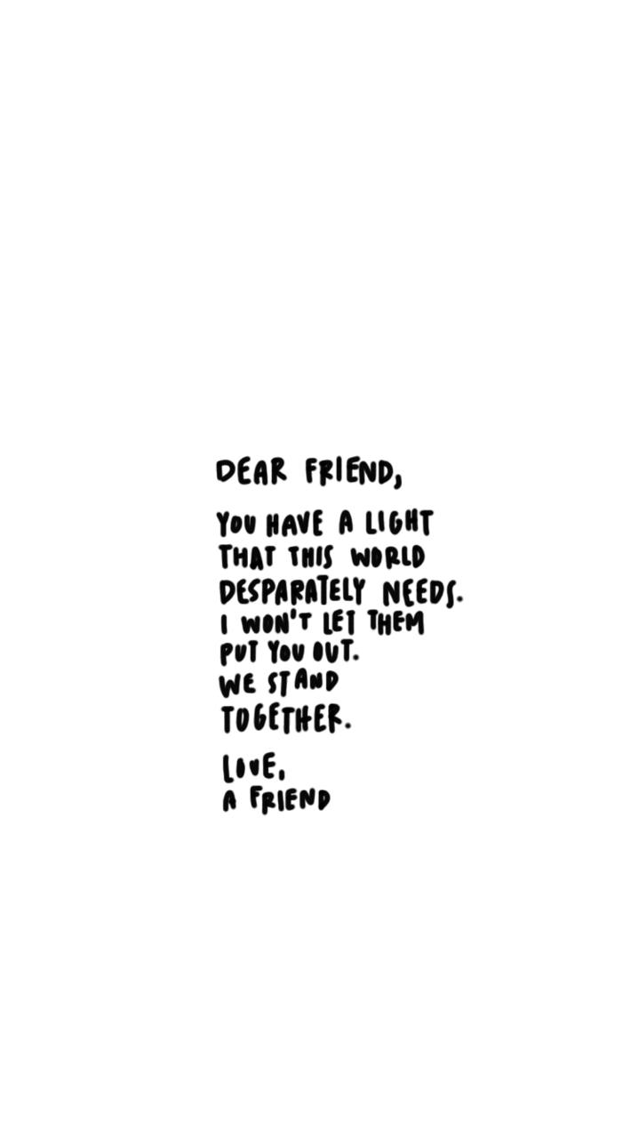 Dear Friend Shared By 1 9 9 8 On We Heart It