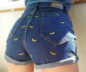 banana, shorts, and jeans image