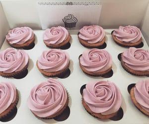 food, pink, and cupcake image