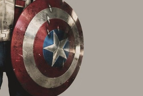 captain america, Marvel, and shield image