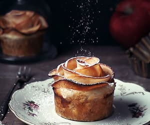 apple, bakery, and cupcake image