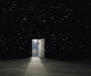 stars, gif, and door image