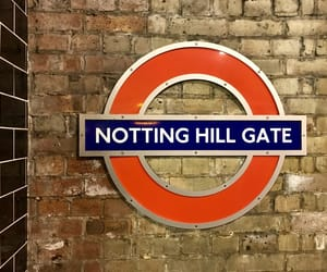 london, Notting Hill, and underground image