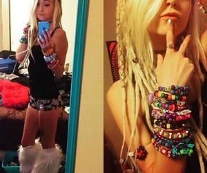 dreadlocks, rave, and dreads image