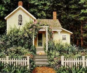 garden, house, and vintage image