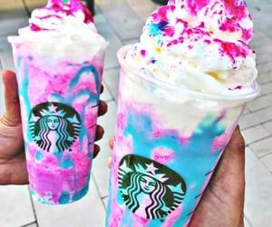 starbucks, unicorn, and drink image