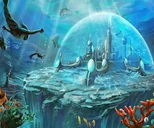 atlantis, dome, and fantasy image