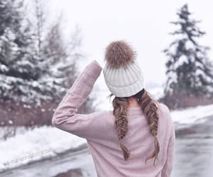fashion, snow, and pink image
