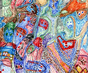 abstract art, avant-garde art, and outsider art image