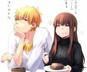 anime, couple, and gilgamesh image