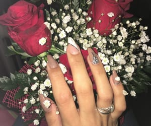 flowers, hands, and nail image