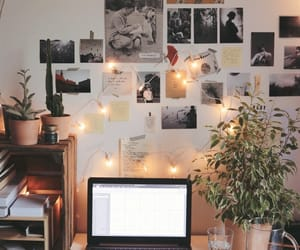 desk, room, and aesthetic image