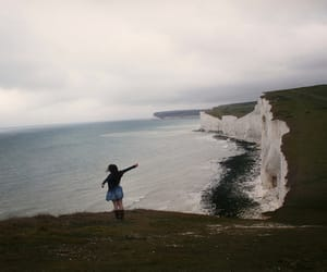 girl, nature, and sea image