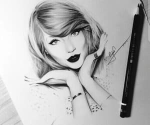 black and white, Taylor Swift, and hair image