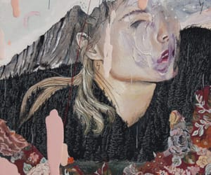 art, flower, and women image