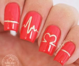 glam, heart, and nail art image