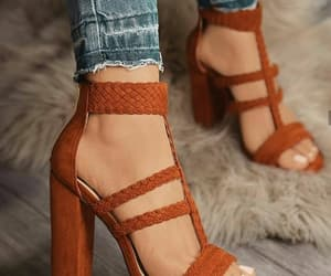 denim, heels, and sandals image