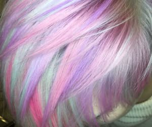 colorful hair, hair, and hairstyle image