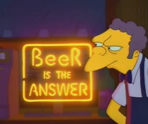 beer, moe, and simpsons image