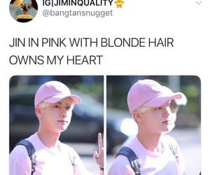 jin, memes, and tumblr image