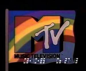 mtv, aesthetic, and rainbow image