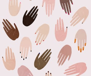 girl, hands, and pattern image