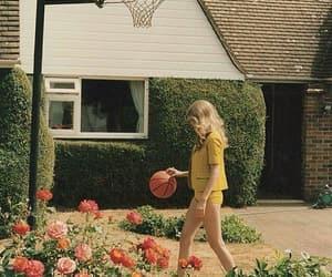 Basketball, girl, and flowers image