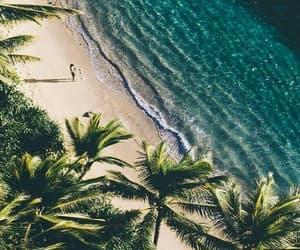beach, summer, and sea image
