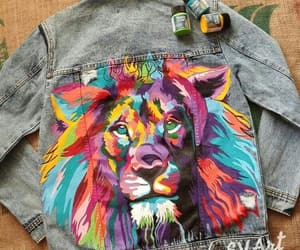 colors, denim, and jacket image