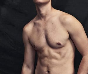 ansel elgort and man image