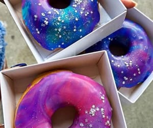 blue, donuts, and purple image