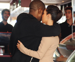 love, kanye west, and kim kardashian image