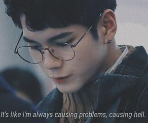 boy, caption, and feelings image