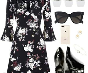 black boots, flower dress, and sunglasses image