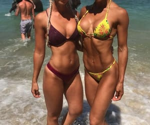 abs, beach, and blonde image