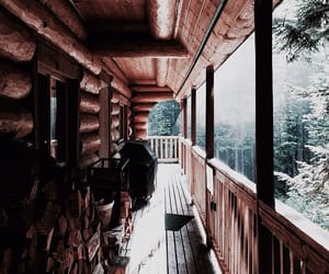 brown, theme, and cabin image