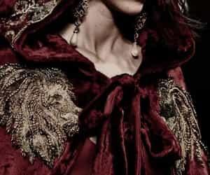 cape, fashion, and dark red image