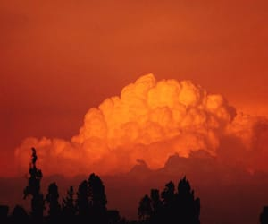 orange, aesthetic, and clouds image